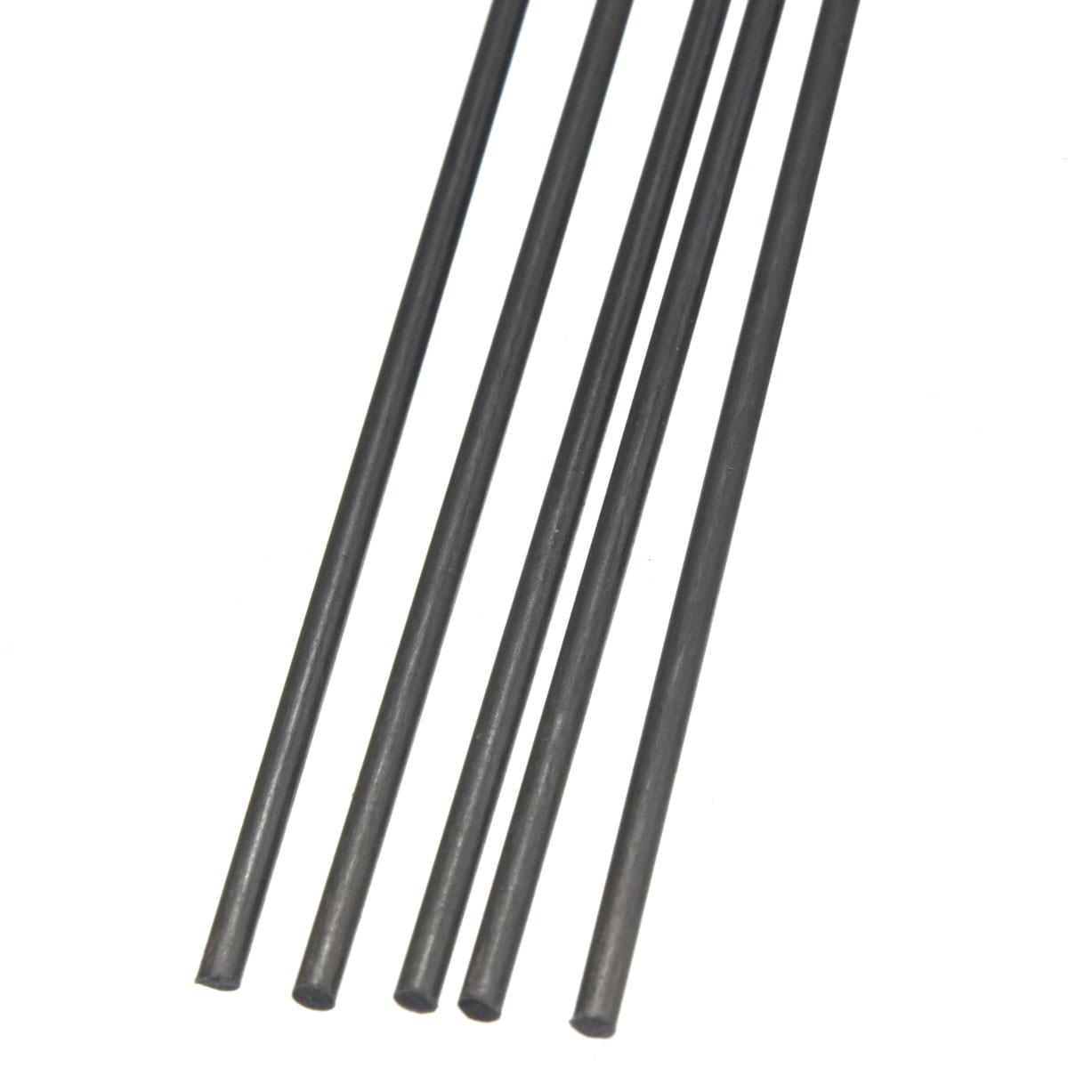 5Pcs Carbon Fiber Rods For RC Airplane Matte Pole 2mm Diameter x 500mm5Pcs Carbon Fiber Rods For RC Airplane Matte Pole 2mm Diameter x 500mm