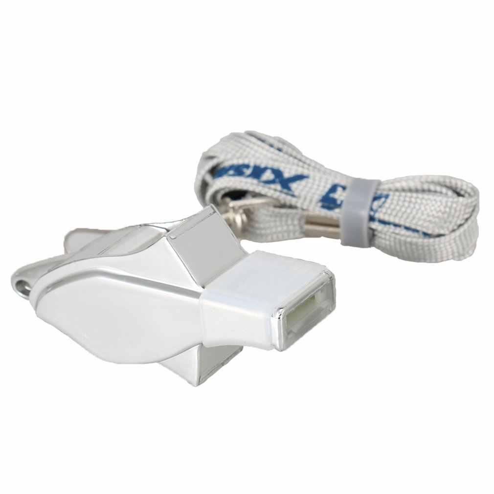 XS36 silbato Acero inoxidable Extra fuerte con cordón para deportes escolares fútbol baloncesto y protección salvavidas