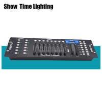 Venta caliente 192 DMX consola de iluminación de escenario controlador 192 canales DMX-512 cabezal móvil led par controlador DMX muestra dieliquería