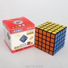 Shengshou 5x5 черный/белый матовый ПВХ стикер Cubo Magico скоростной куб 6,4 см Твист Головоломка Прямая поставка