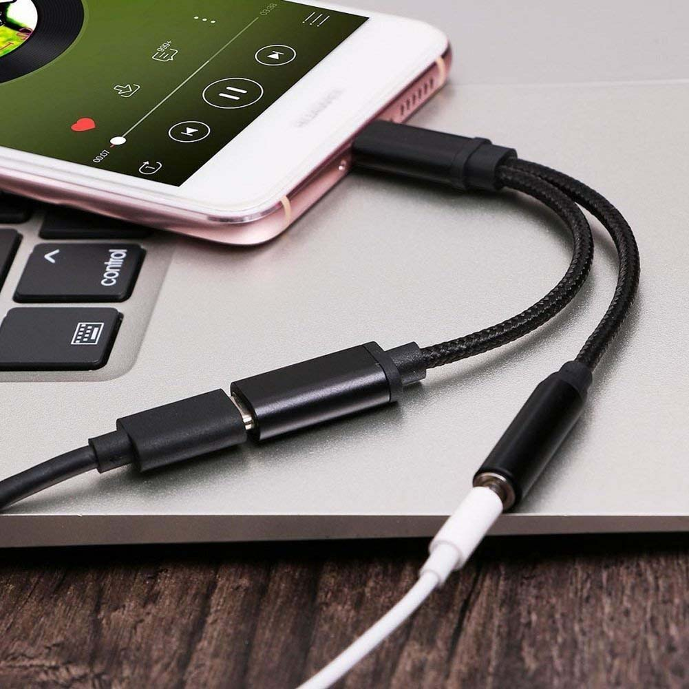 USB Type C To 3.5mm Earphone Jack Adapter Aux Audio Cable Headphone Charger Charging USB-C Converter For type-c Usb-c