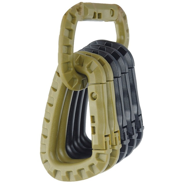 Attach Quickdraw Shackle Carabiner Clip Molle Webbing Backpack Buckle Snap Lock Grimlock Camp Hike Mountain Climb Outdoor