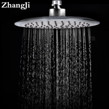 ZhangJi 20cm Round Rainfall Shower Head Silica Gel Hole Bathroom Light ABS Top Water Saving Spray Nozzle