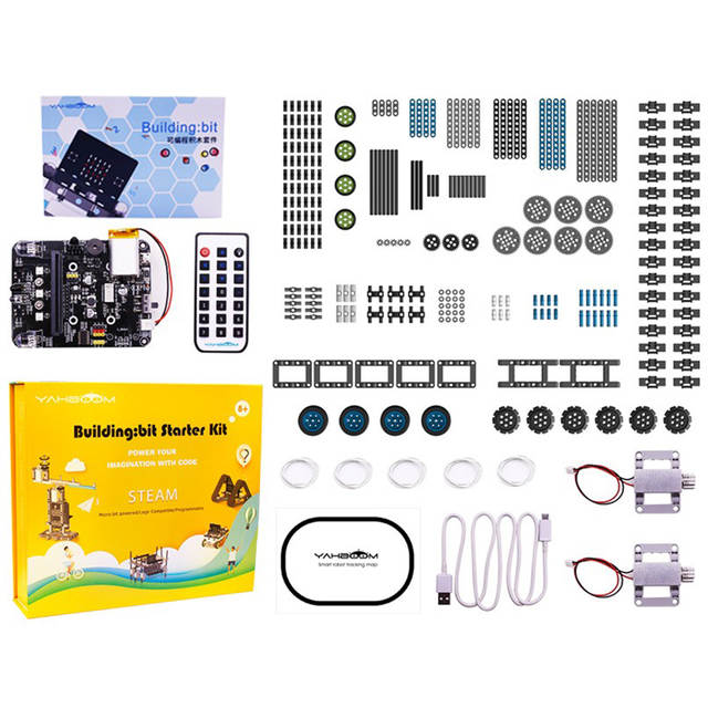 New Micro:Bit STEM Robotics Kits For Kids Programmable Microbit Robots DIY  Toy Car With Tutorial Tracking Scientific Education