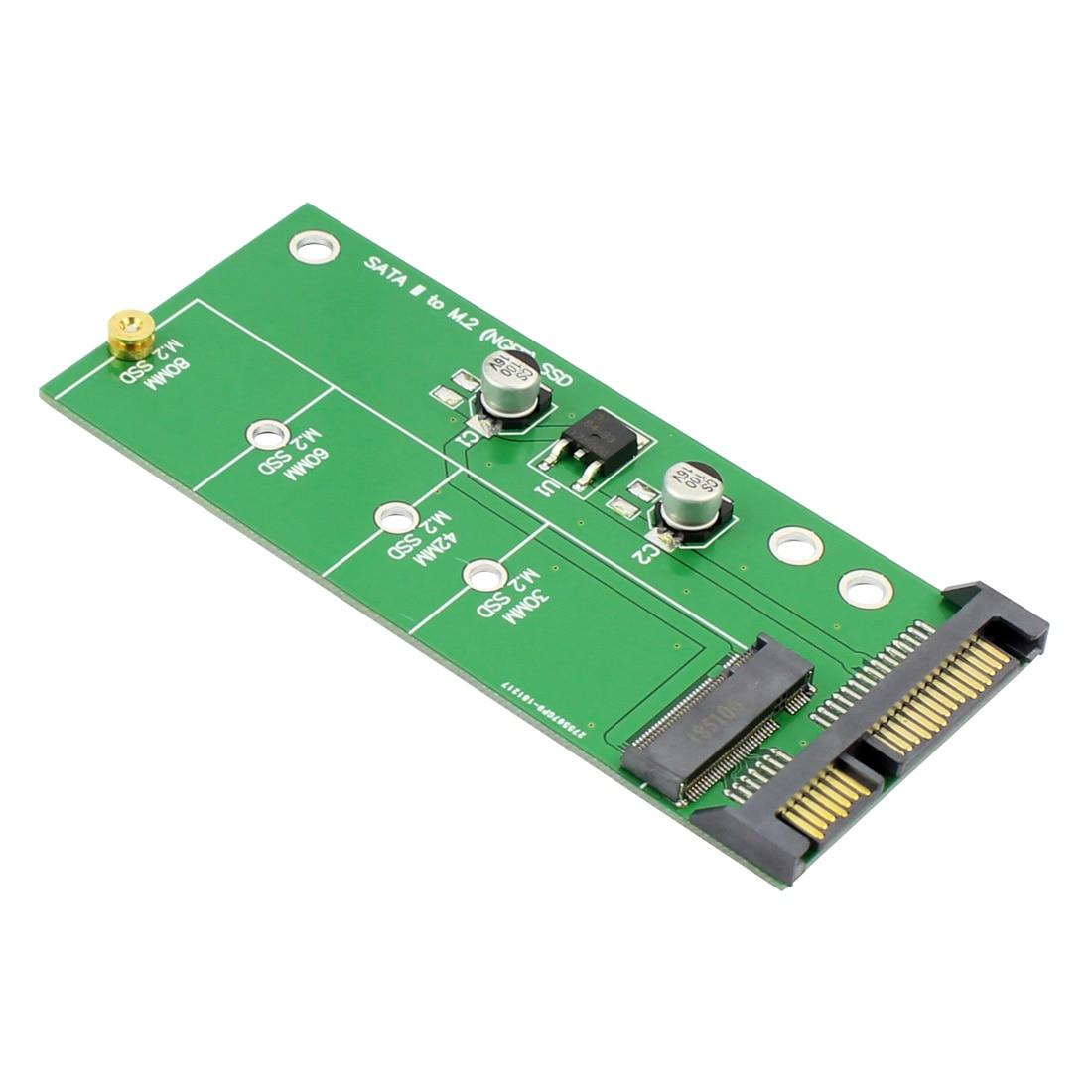 XT-XINTE NGFF (M2) SSD à 2.5 SATA adaptateur M.2 2.5 pouces NGFF SSD à SATA3 convertir la carte