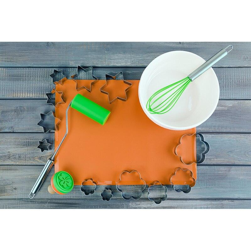 baking mat Elan Gallery 590075 Bakeware creative pyramid silicone baking mat nonstick pan pad