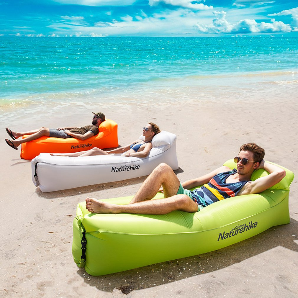 Colchões de Ar de Praia Espreguiçadeira Sofá Inflável ao ar livre do Hammock com Encosto Cadeira Do Sofá Cama De Ar Dentro de Casa Ao Ar Livre Portátil