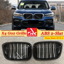 X4 G02 Front Grille ABS Gloss Black For Double Slats Grills M-style Kidney xDrive20i xDrive30i 2019-in