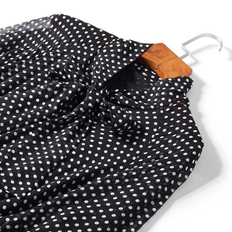 Black Mi Robes Col Points Robe En 2019 Qualité Stretch Soie Femme Longues Taille Arc mollet Réel Printemps Manches Supérieure Été À Jc2684 dhCtrsQx