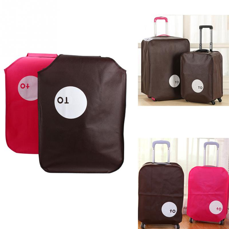 New Non-woven Travel Luggage Cover Protective Suitcase Cover Trolley Case Travel Luggage Dust Cover for 20/24/28 inch ~