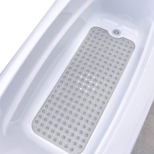 Extra Long Vasca Da Bagno Zerbino s Antiscivolo Resistente alla Muffa Anti-Batterico Extra Long Doccia Zerbino Tazza di Aspirazione Presa bagno Zerbino s 40x100 cm