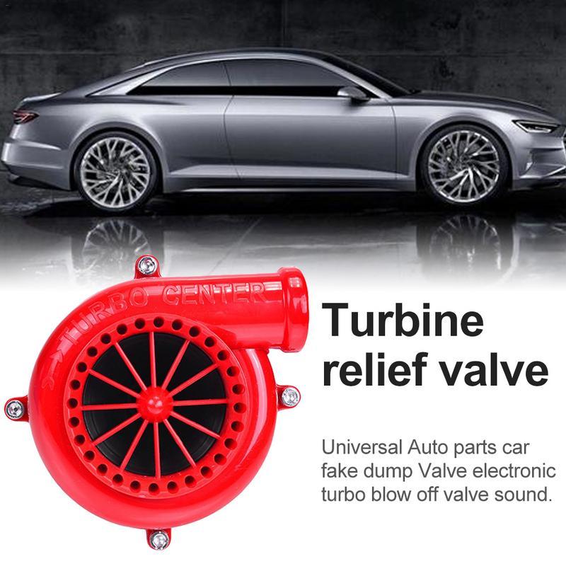 Nieuwe Stijl Auto Rood-zwart Nep Dump Elektronische Turbine Overdrukventiel Supercharger ABS Plastic Gesimuleerde Geluid