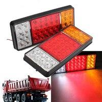 2X 24V 36 LED Ute Rear Trailer Tail Lights Caravan Truck Boat Car Indicator Lamp