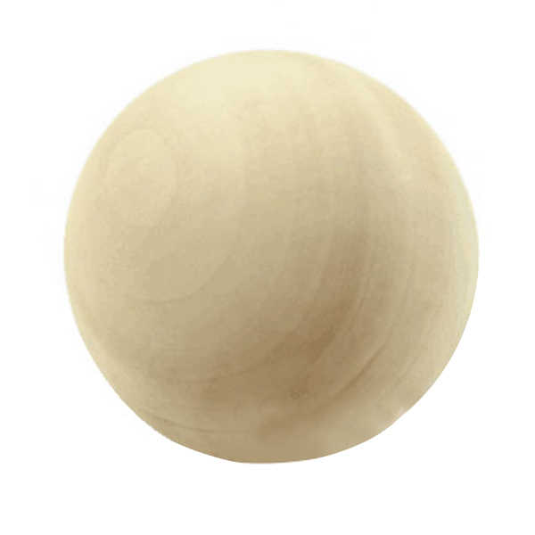 Wooden balls without bore Dia. 50 mm, 2 pieces