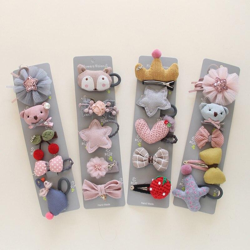 6 Pcs cute Kids Girls Baby Hair Clips Hairpins Hair Pin Gift Bag