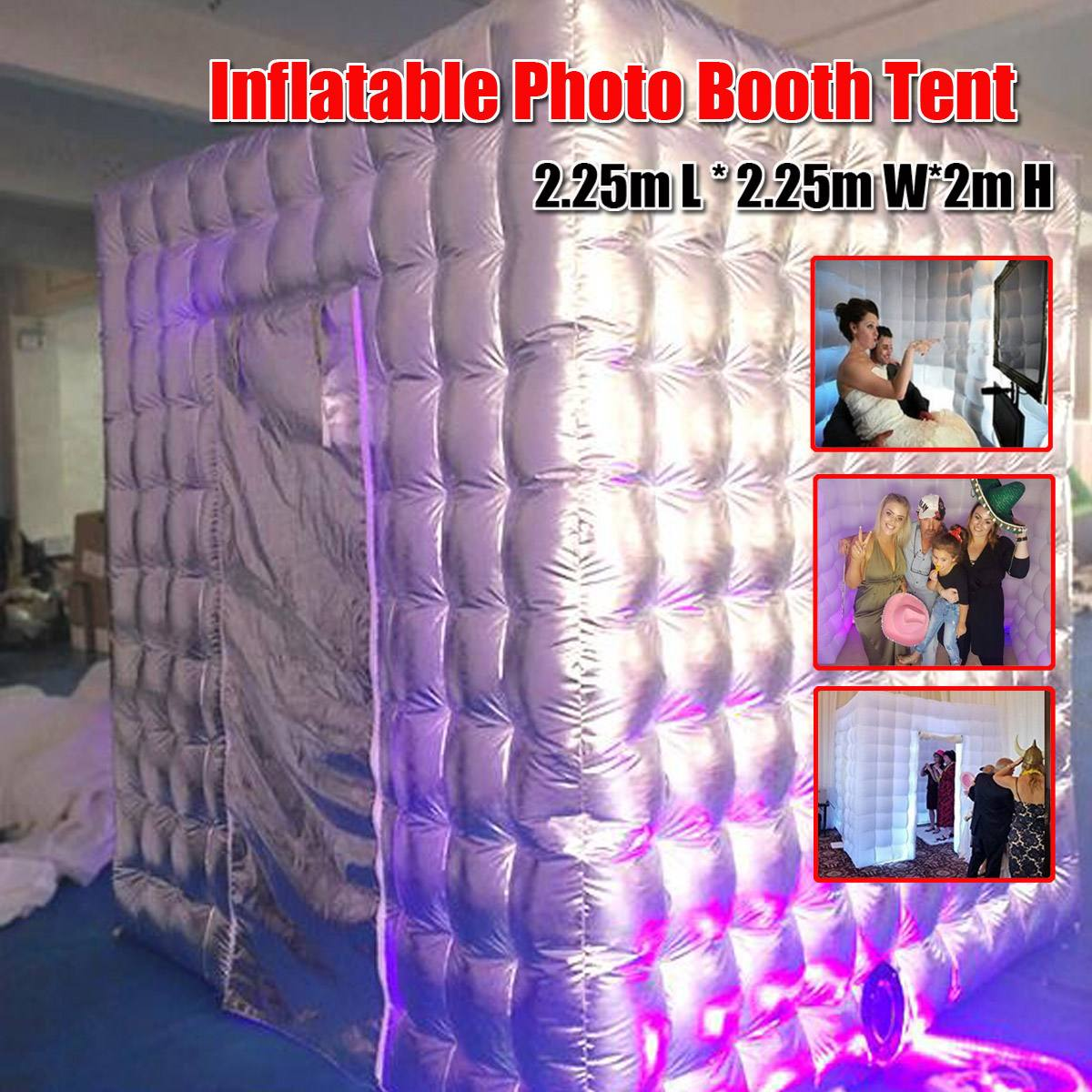 Inflatable Photo Booth Tent Box Props for Wedding Birthday Party Exhibition Photography Studio 2.25m * 2.25m*2m