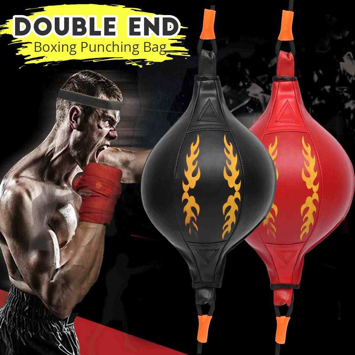 PU Boxing Fitness Muay Thai Double End Boxing Speed Ball Punching Bag Pear Inflatable Boxing Equipment Bodybuilding Fitness gym