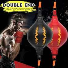 PU Boxing Fitness Muay Thai Double End Boxing Speed Ball Punching Bag Pear Inflatable Boxing Equipment Bodybuilding Fitness gym(China)