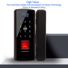 Glass Door Lock Electric Fingerprint Lock Electronic Digital Door Lock With Touch Keypad Smart Card Remote Control Office Home цены онлайн