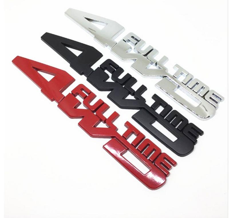 Four-wheel Drive Metal 4WD FULL TIME Car Sticker for All Kinds of Car image