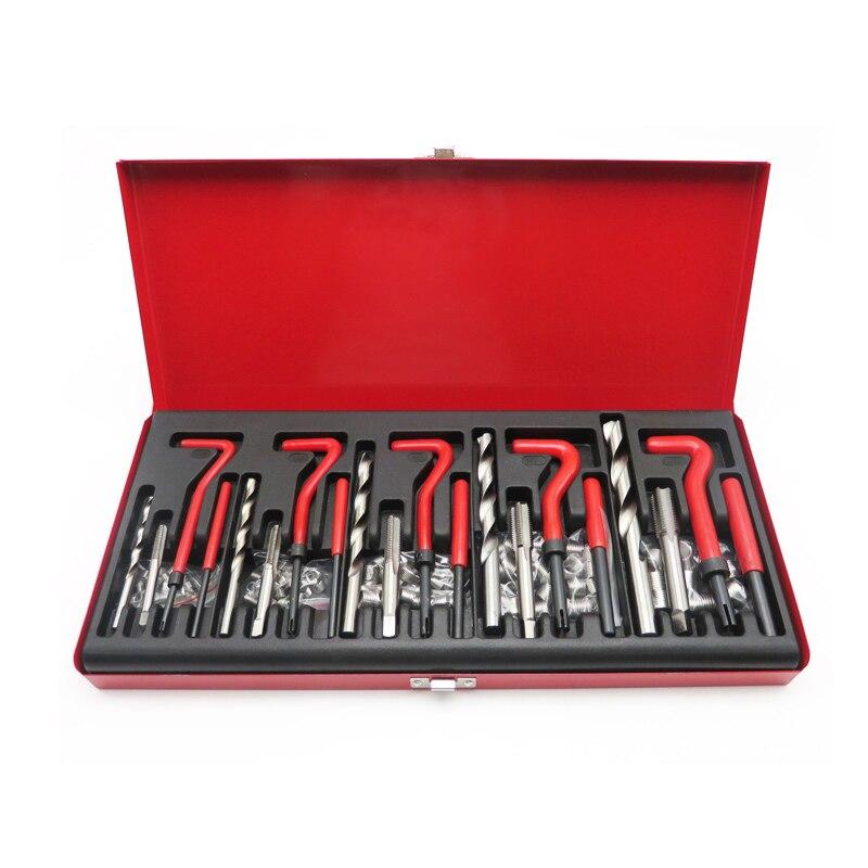 131 pièces de voiture taraudeuse outils de réparation bougie fil taraudeuse fil réparation Auto réparation Auto entretien Kit