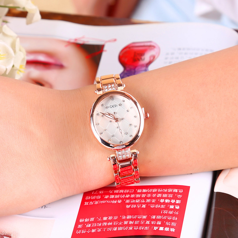 New Brand Girl Watch Women Quartiz Wristwatch Fashion Diamond Dail Lady For Woman