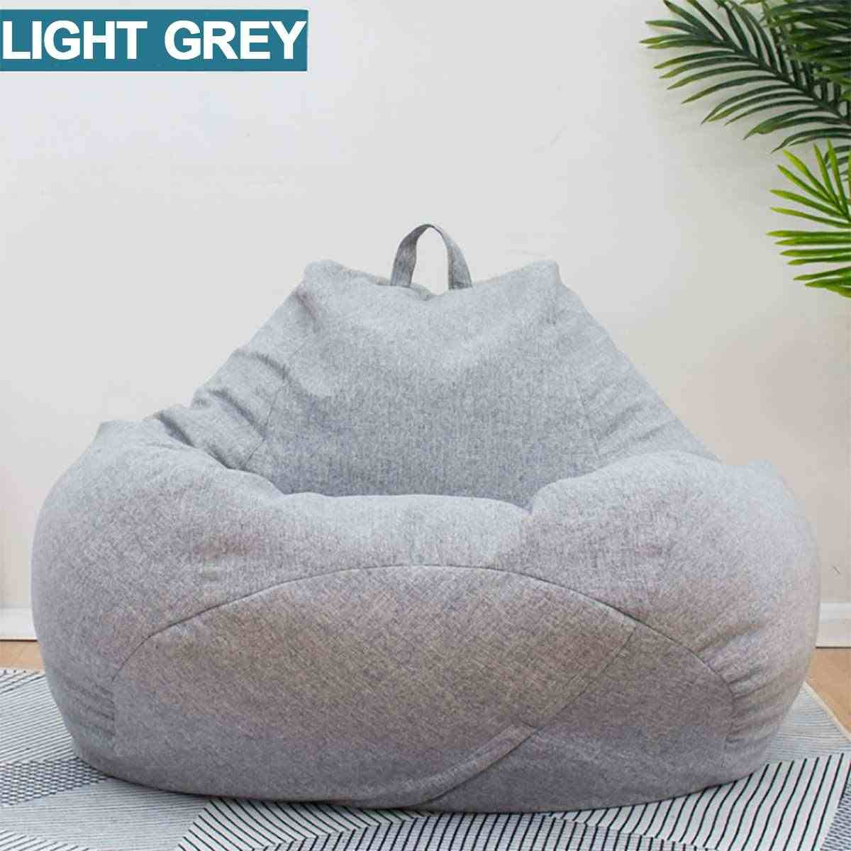 Lazy BeanBag Sofas without Linen Cloth Lounger Seat Bean Bag Sofa Cover Chairs Pouf Puff Couch Tatami Living Room Furniture