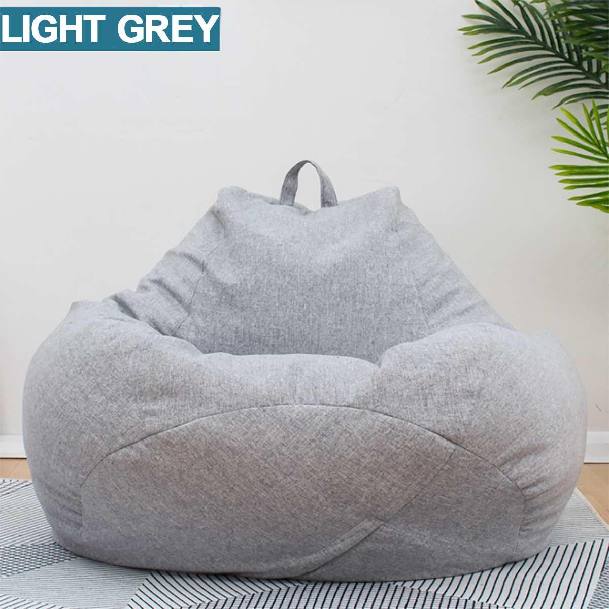 Preguiçoso beanbag sofás sem pano de linho espreguiçadeira assento saco de feijão sofá capa cadeiras puff puff tatami sala estar móveis