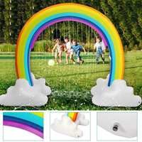 Kids Inflatable Water Sprinkler Rainbow Child Play Fun Garden Beach Outdoor Toy 230x170cm Environmental Safe PVC Material