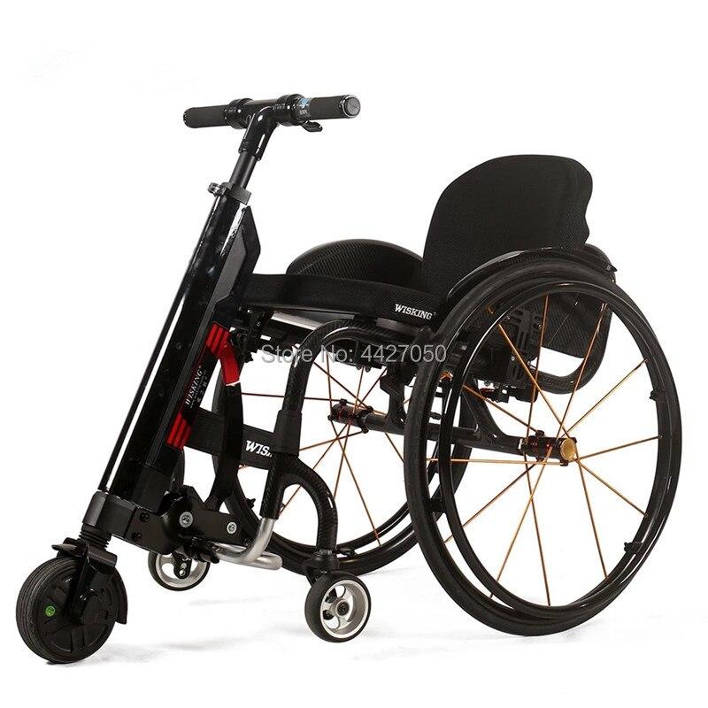 Free shipping Sports font b wheelchair b font trailer manual power font b wheelchair b font