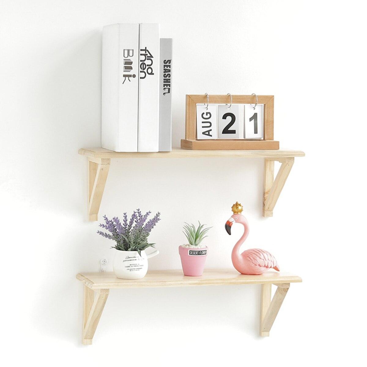 Bathroom Fixtures 1 Pc Wall Shelf Creative Decorative Solid Wood Sundries Organizer Bookshelf Storage Rack For Storage Flower Pot Sunglasses Books
