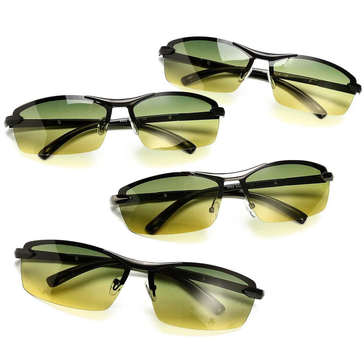Dia e Noite Visão Motoristas Óculos Polarizados Óculos de Sol Anti Glare Noite-Visão Óculos de Sol Óculos de Condução Condução de Proteção Do Carro