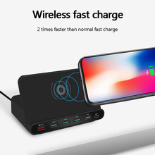 three-in-one fast wireless charger multi-port USB QC3.0 charge charging mobile phone bracket