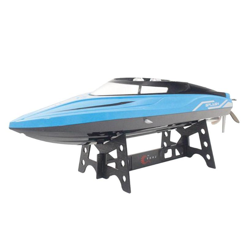 2.4 GHz 4CH Mini bateau de course hors-bord bateau enfant jouets avec système de refroidissement par eau faible puissance fonction d'alarme renversé pour enfant jouets cadeau