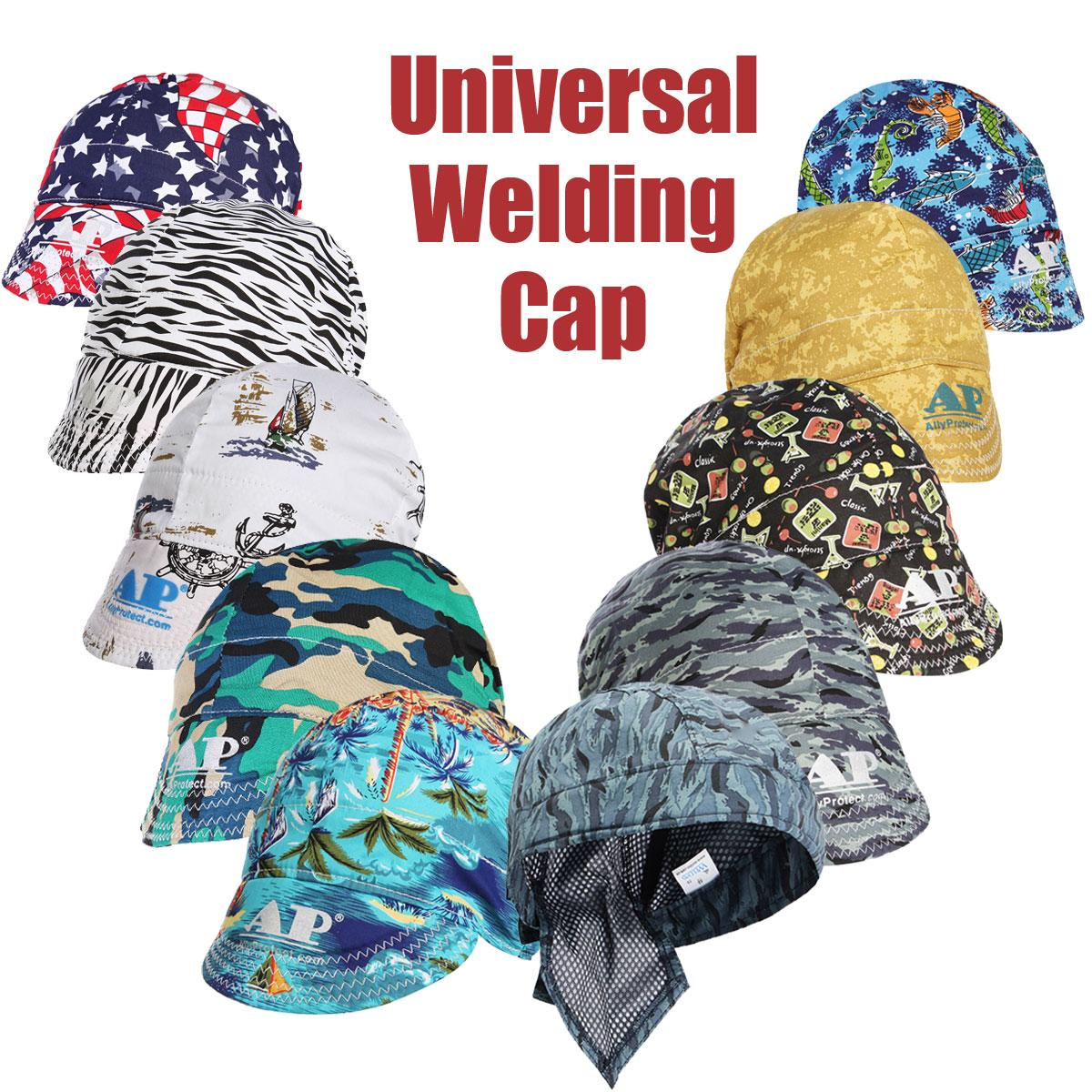 FORGELO Elastic Welding Hat Sweat Absorption Welders Welding Protective Hat Cap Flame Resistant Head Full Protection Hoods