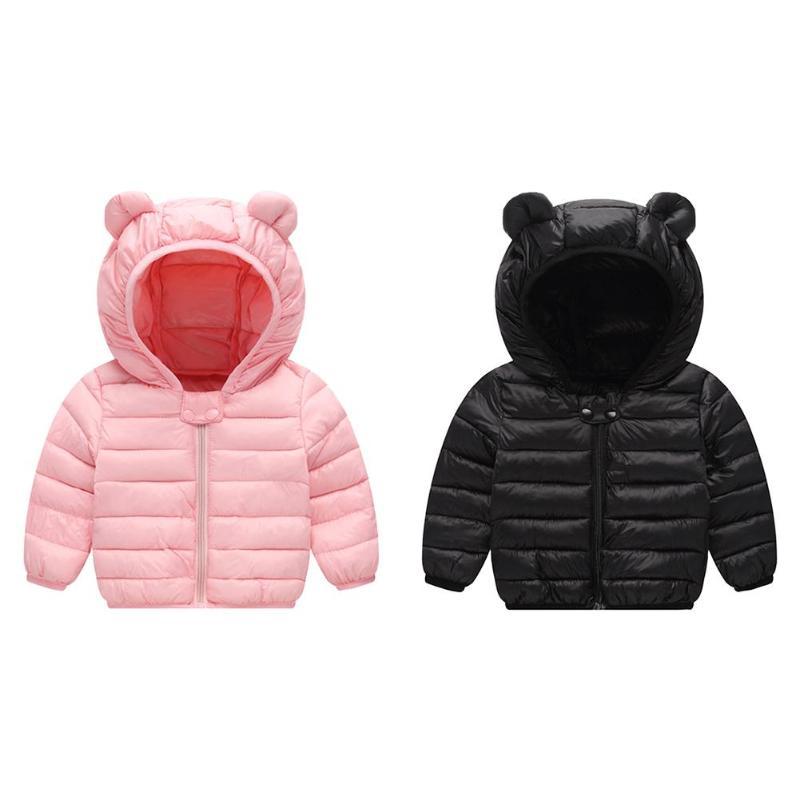 1 Stück Licht Kinder Bär Ohr Winter Jacke Kinder Jungen Mädchen Unten Hoodies Mantel Baby Mädchen Jungen Kleidung Jacke Mantel Niedriger Preis