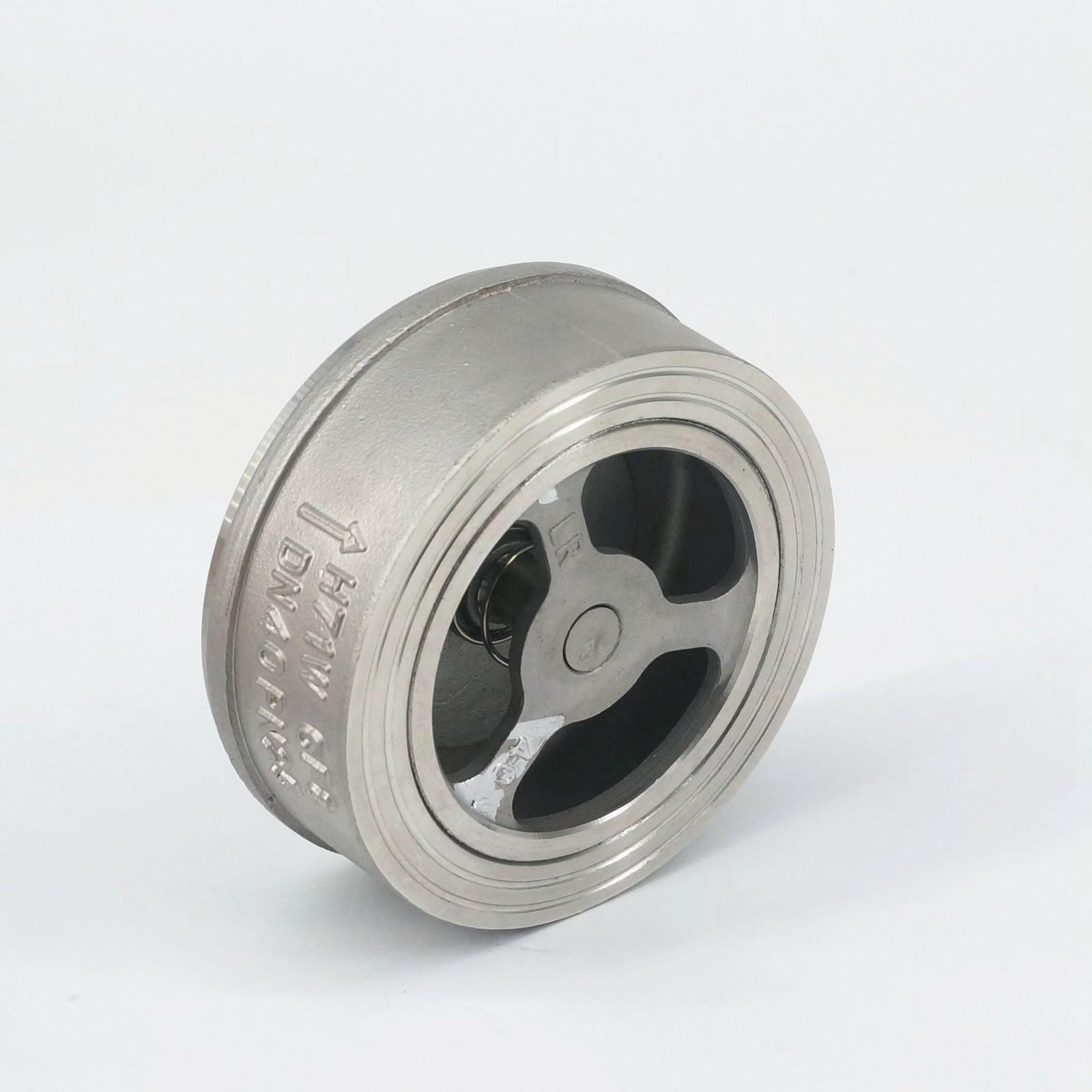 Dn40 1-1/2 304 Edelstahl Wafer Überprüfen Ventil Nicht-rückkehr Eine Möglichkeit Ventil Temperatur-196 C Zu 540 C Rohre & Armaturen Rohrverbindungsstücke