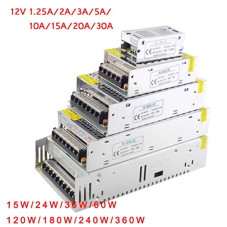 DC 12 V 1A 2A 3A 5A 10A 15A 20A 30A AC 110 V 220 V transformator zasilający przełączania sterownik LED do taśmy światła przełącznik