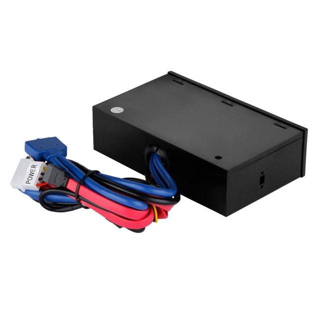 "Multifuntion 5.25"" Media Dashboard Card Reader USB 2.0 USB 3.0 20 pin e-SATA SATA Front Panel 3"