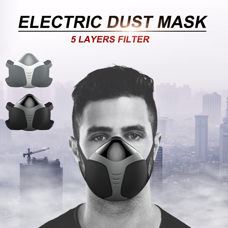 Intelligent Electric Dust Mask Anti-Fog Pm2.5 Formaldehyde Dust-Proof Active Air Mask Adult Smart Electric MaskIntelligent Electric Dust Mask Anti-Fog Pm2.5 Formaldehyde Dust-Proof Active Air Mask Adult Smart Electric Mask