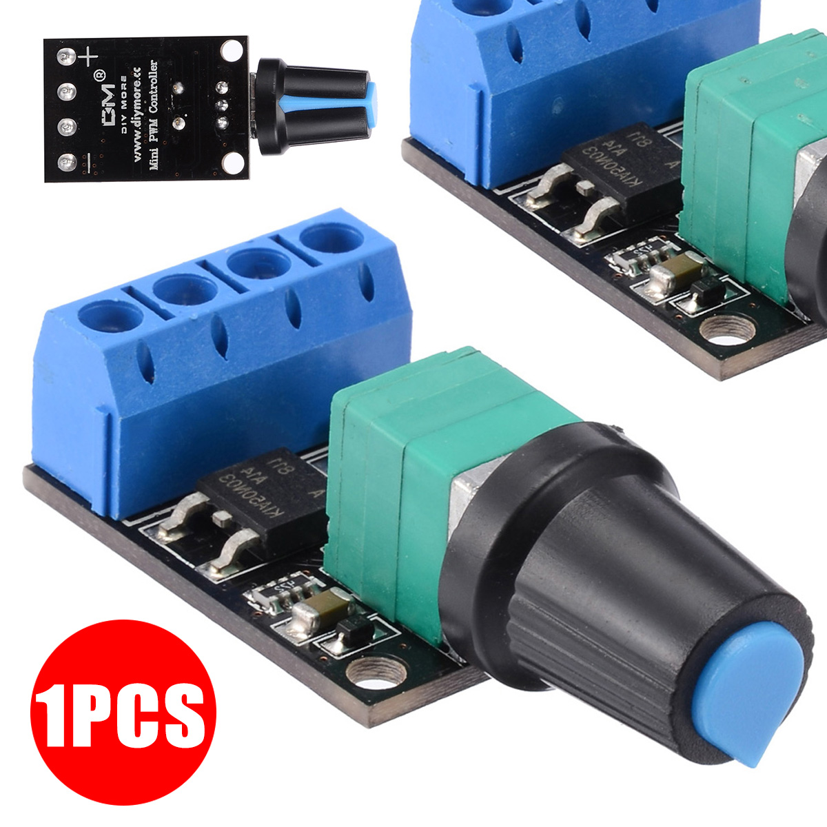 DC 5V-16V PWM DC Speed Controller 10A DC Motor Speed Controlling Switch LED Dimmer Controller Mayitr