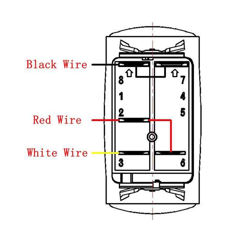 12v 5 Pins Car Rocker Switch Wiring Harness 300w Push Button With Relay And Fuse Colorful Light