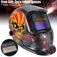 Auto Darkening Welding Helmet Welding Helmet Solar Auto Darkening Welder Mask Grinding Hood Cap & 2 Baffle For Grinding недорого