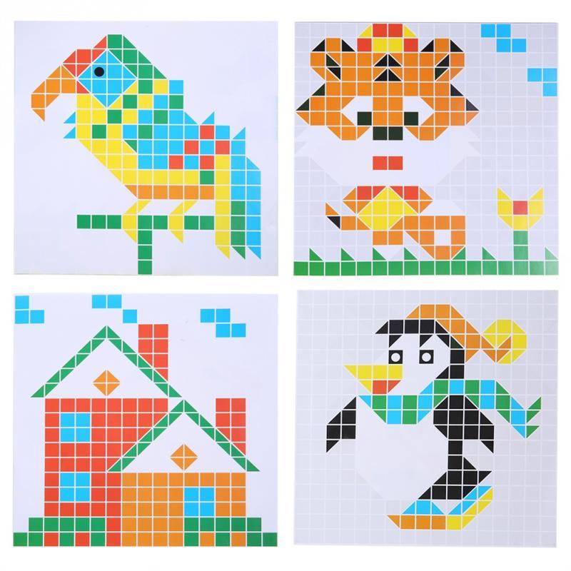490Pcs/Set Kids DIY 3D Puzzle Toy Set Colorful Puzzles ...