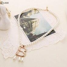 1 ud. Vintage collar gargantilla de perla de imitación de los Tudors Anne Boleyn