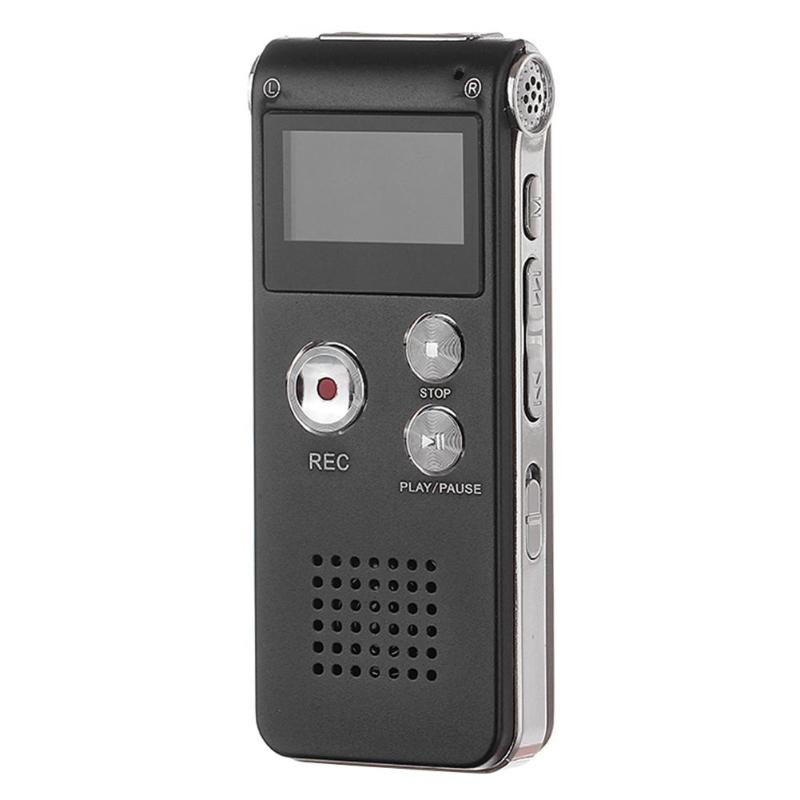 Unterhaltungselektronik Professioneller Verkauf 8 Gb Voice Record Mini Wiederaufladbare Stahl Digital Sound Audio Recorder Mp3 Player W/mic Hohe Qualität Feines Handwerk Tragbares Audio & Video