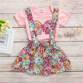 6530ba45e68 Aliexpress.com   Buy Cute Newborn Baby Girl Summer Clothes Sets Embroidery  Short Sleeve Romper Tops+Floral Bids Skirt 2Pcs Girl Outfits 0 24Months  from ...