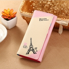 Womens Wallet Fashion Tower Ladies Long Card Package Phone Bag
