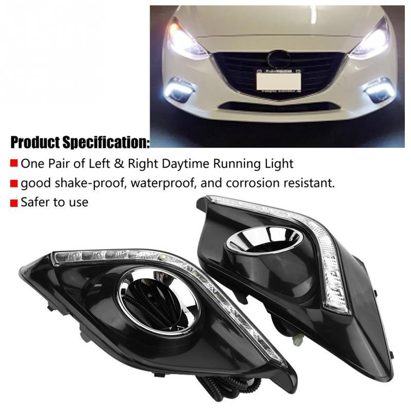 1 paire de feux de jour DRL LED feux de jour pour Mazda3 Axela 2013 2014 2015 20161 paire de feux de jour DRL LED feux de jour pour Mazda3 Axela 2013 2014 2015 2016