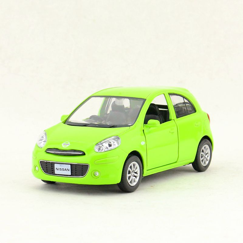 RMZ City 1:28 Diecast Toy Model/Japan Classical Nissan Micra March/Pull Back Car For Children's Gift/Collection/Educational